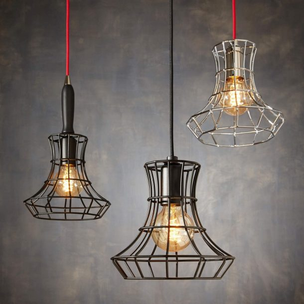 lampade a sospensione in stile industriale